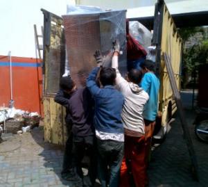 pengiriman mesin oven