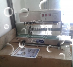 mesin continuous band sealer stand model