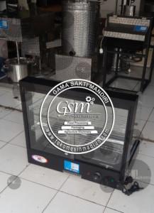 mesin penghangat makanan dan display produk makanan