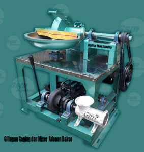 mesin penggilingan daging dan mixer adonan bakso diameter 60 cm