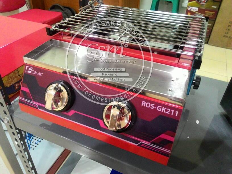Jenis Barang : Kompor Panggang Tanpa Asap Merk : FOMAC Type : ROS-GK211 Jumlah Tungku : 2 Tungku Cover Penutup Tungku : Kaca / Quartz Glass ( Anti Panas )