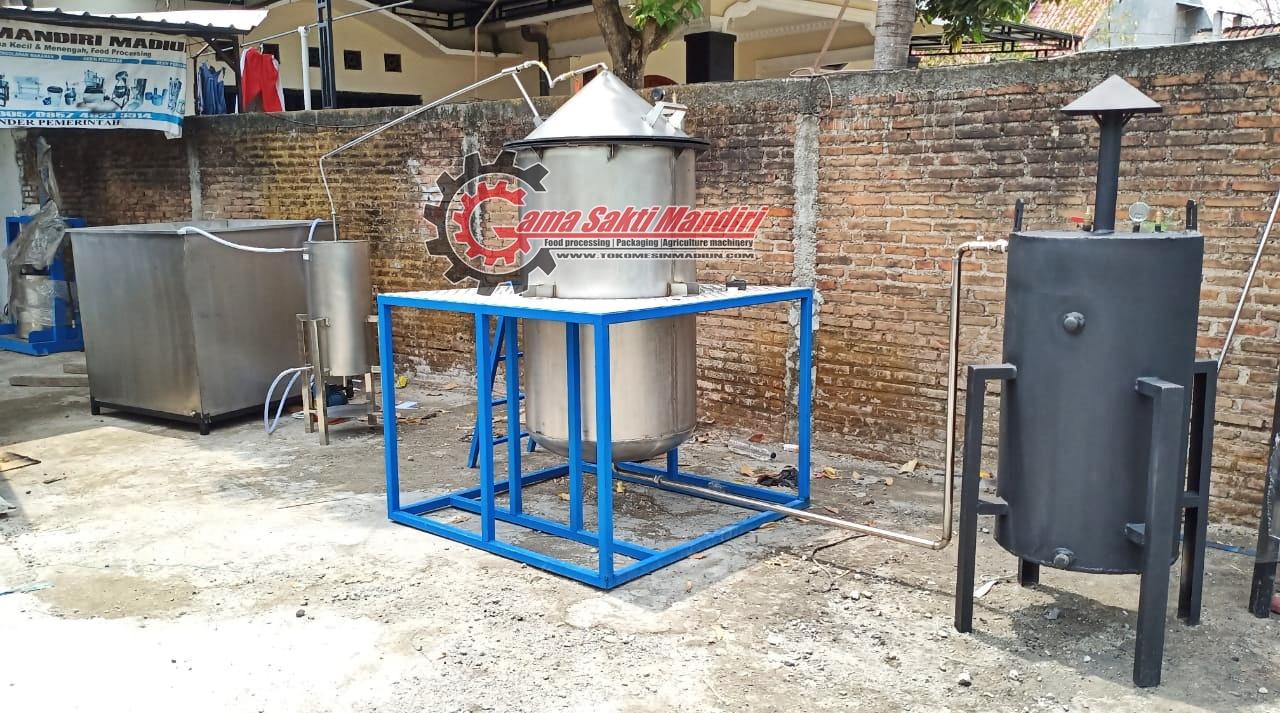 Mesin Destilasi Penyulingan Minyak Kapasitas 100 kg