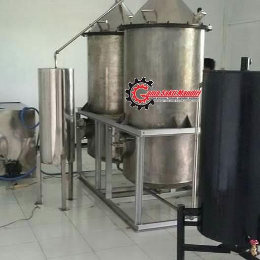 Mesin Destilasi Penyulingan Minyak Kapasitas 200 kg